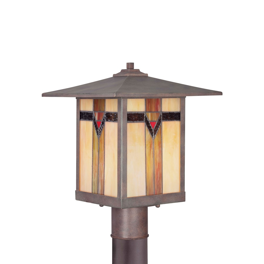 Shop Allen Roth Vistora 14 9 In H Bronze Post Light At