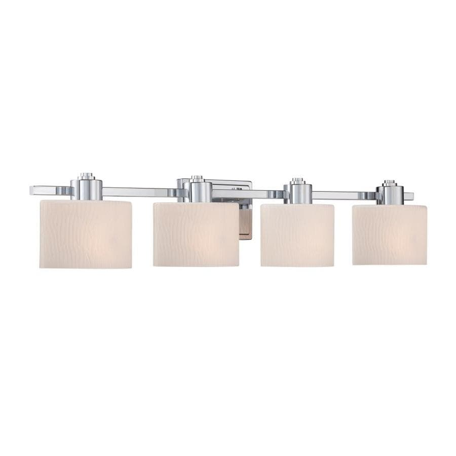 allen + roth Grayson 4-Light 6.5-in Polished Chrome Oval Vanity Light
