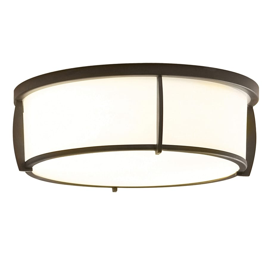 allen + roth 13-in W Teco Marrone Ceiling Flush Mount Light