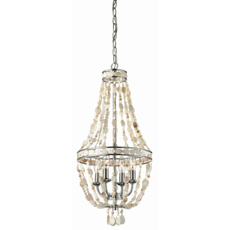 Shop Style Selections In Light Polished Chrome Standard - Chandelier crystals lowes