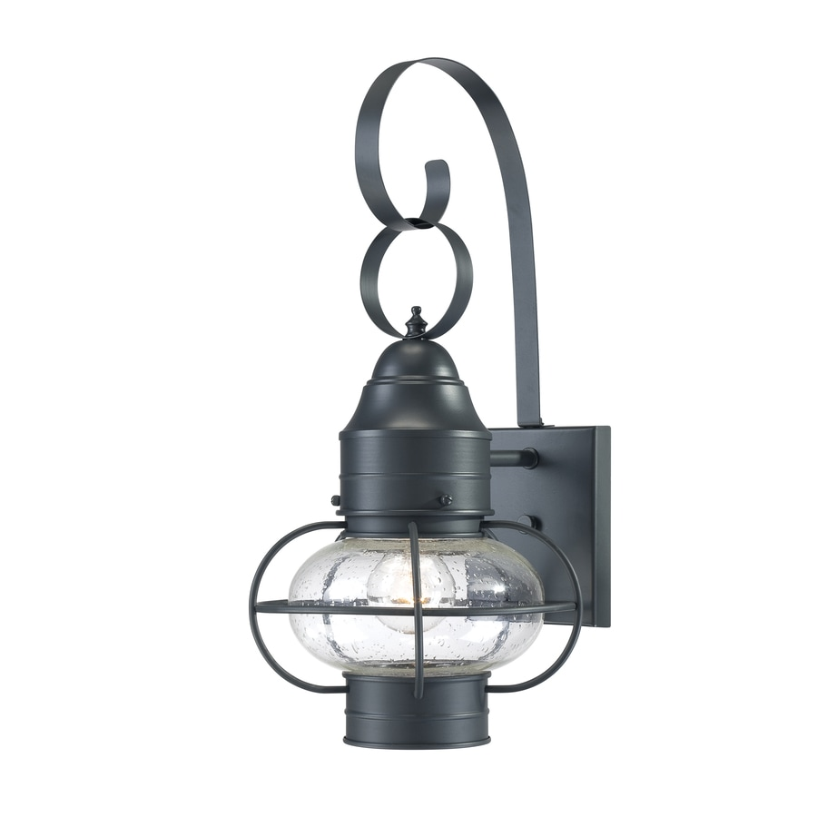 Portfolio Trevett 17.63-in H Charcoal Black Outdoor Wall Light