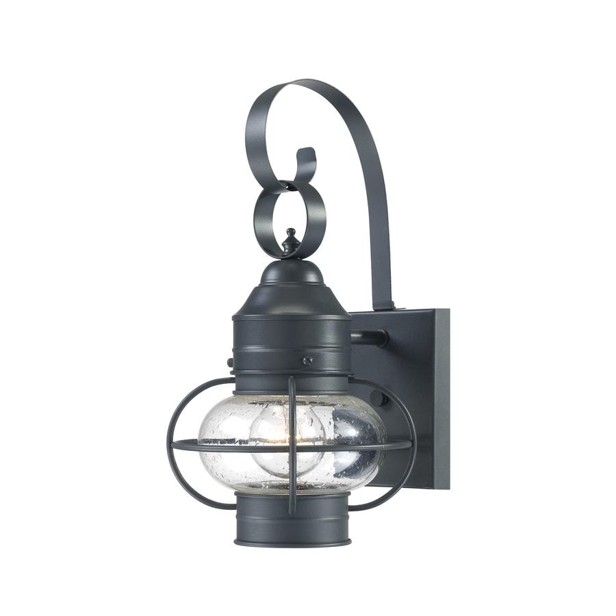 Portfolio Trevett 14-in H Charcoal Black Outdoor Wall Light