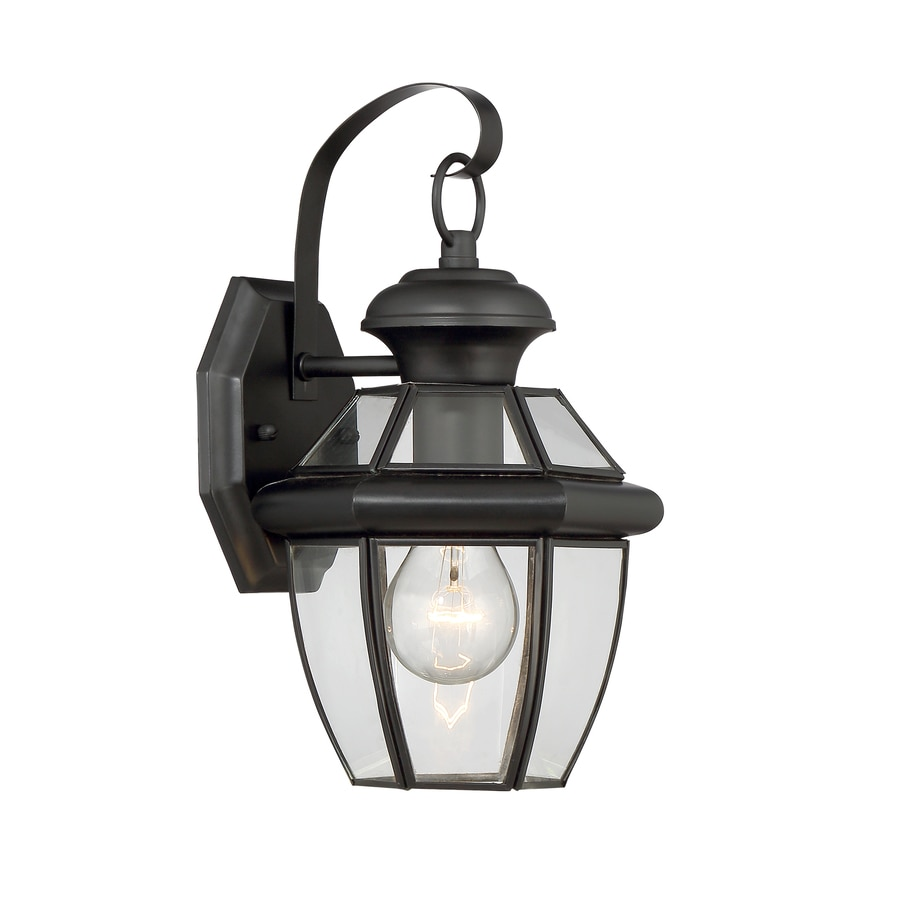 Portfolio Brayden 14.13-in H Mystic Black Outdoor Wall Light