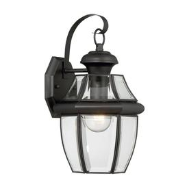 display product reviews for brayden 1413in h mystic black outdoor wall light