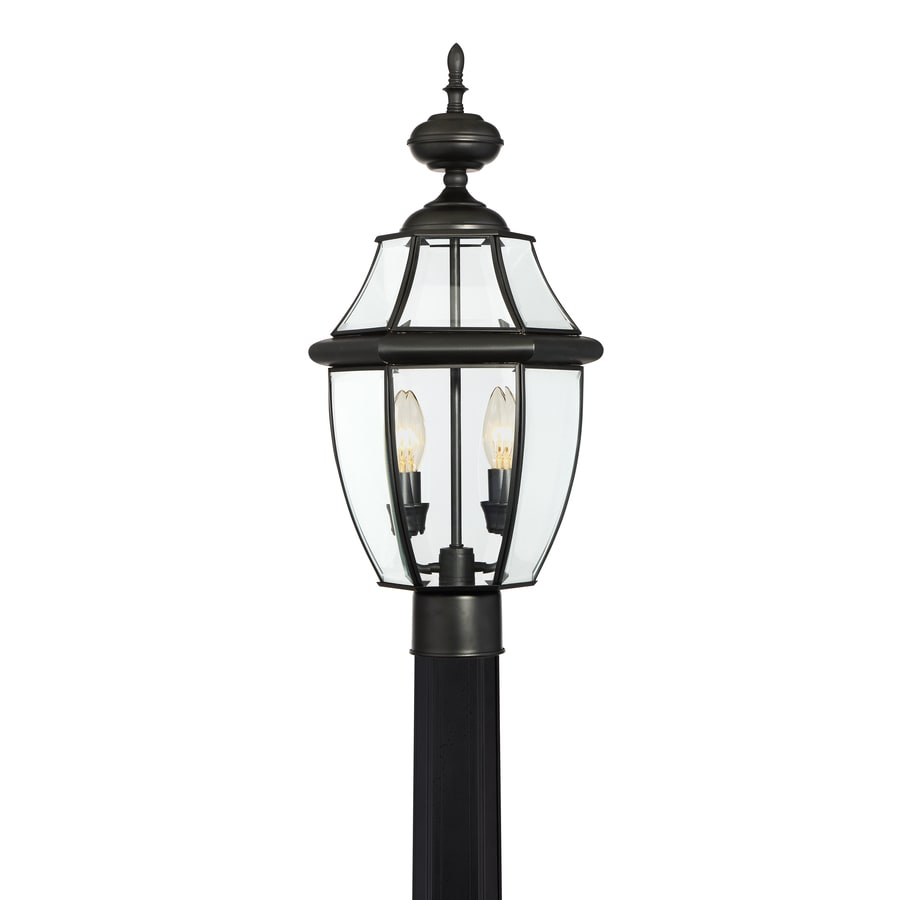 Outdoor Lamp Post B Q: Portfolio Brayden 60-Watt 21.8-in Matte Black Traditional