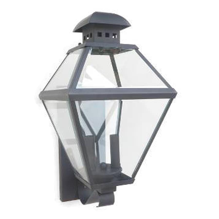 Portfolio Castle Creek 18.75-in H Mystic Black Outdoor Wall Light