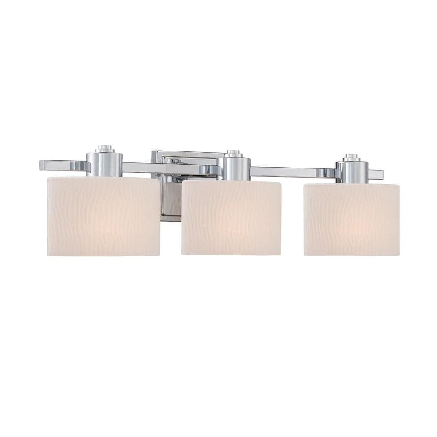 allen + roth Grayson 3-Light 6.5-in Polished Chrome Vanity Light