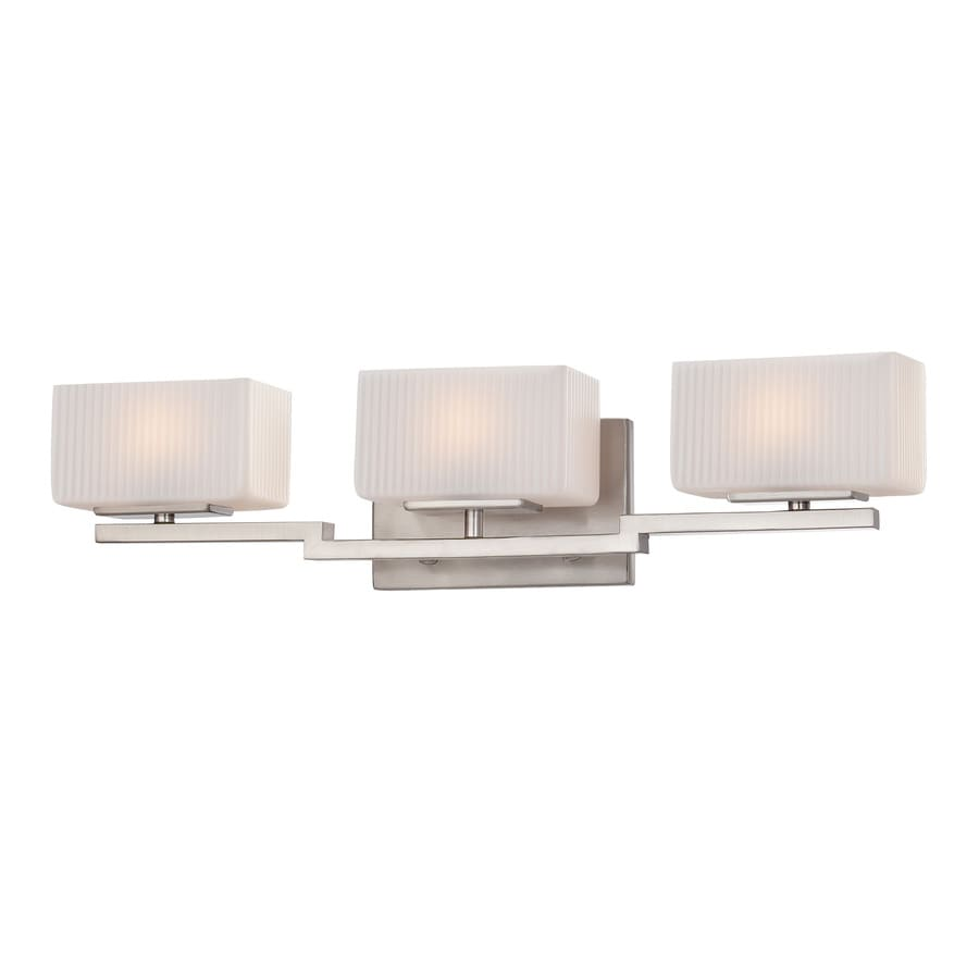 Shop Ashley Harbour 3-Light Brushed Nickel Vanity Light at Lowes.com