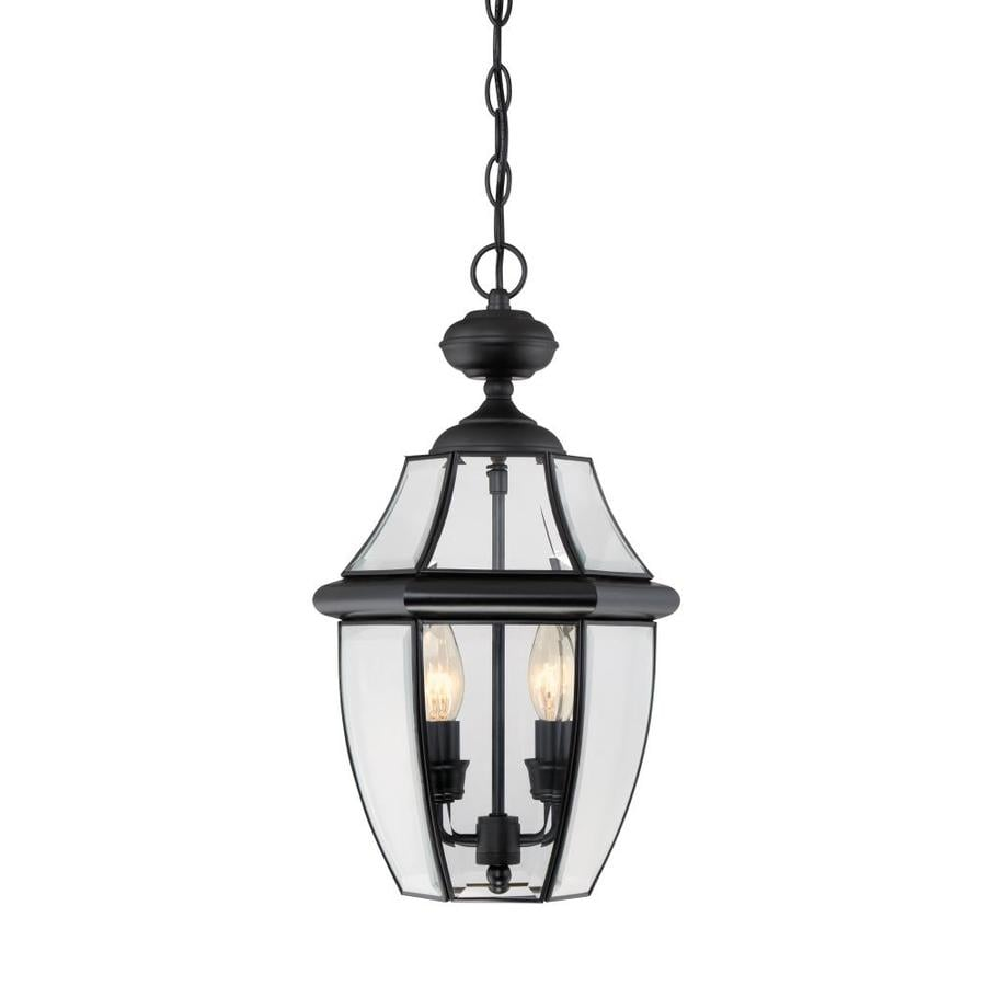 Outdoor Hanging Lanterns Lowes: Portfolio Brayden Mystic Black Single French Country