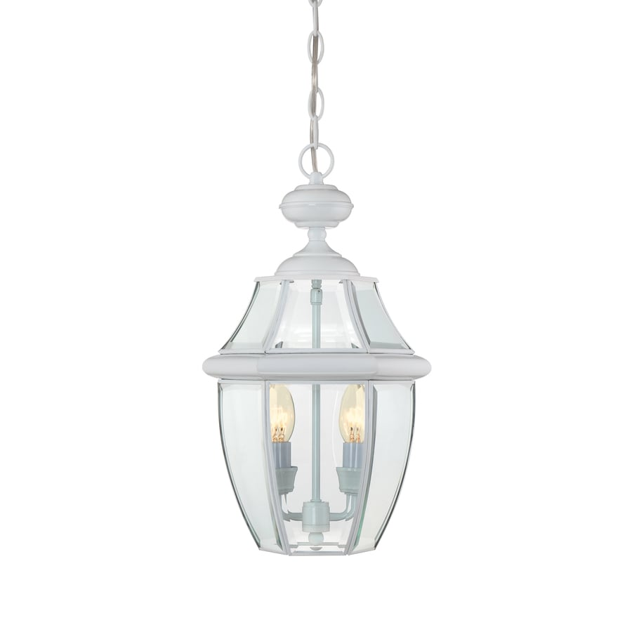 Portfolio Brayden 18.5-in White Outdoor Pendant Light
