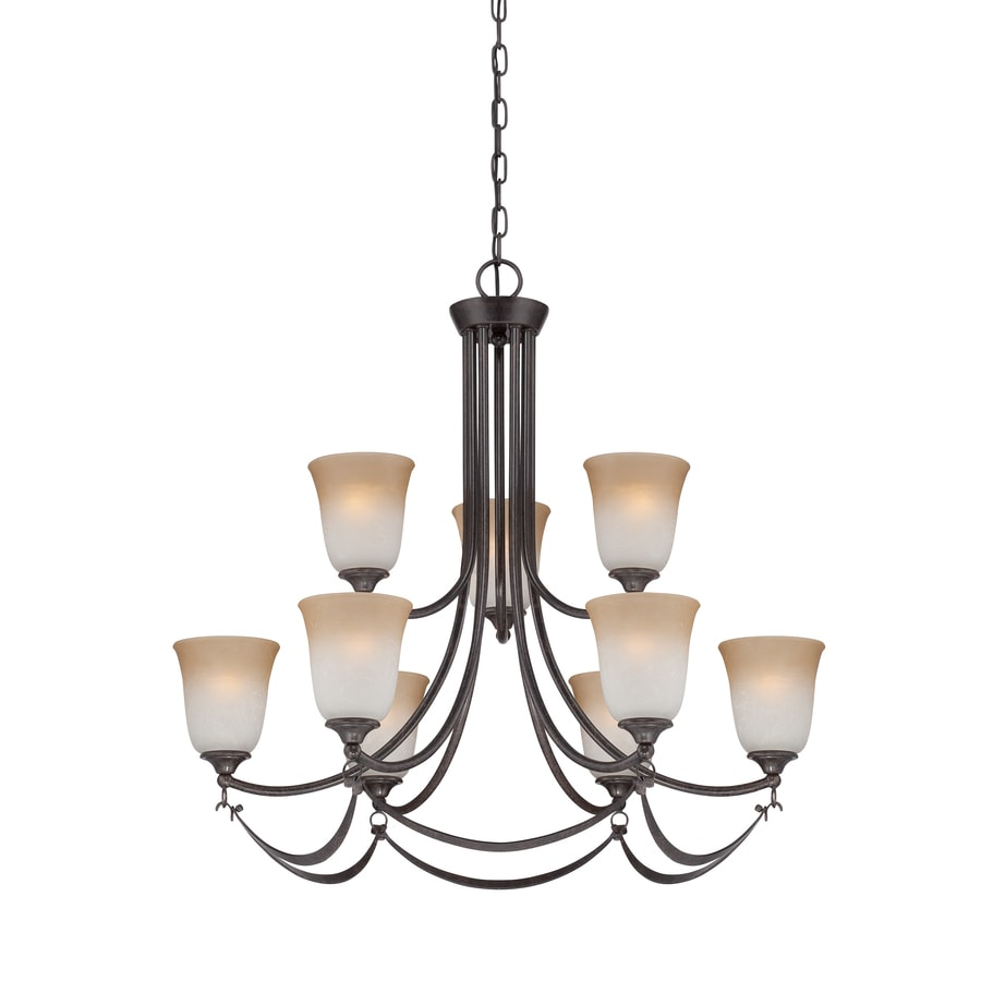 allen + roth Winnsboro 9-Light Imperial Bronze Hardwired Standard Chandelier