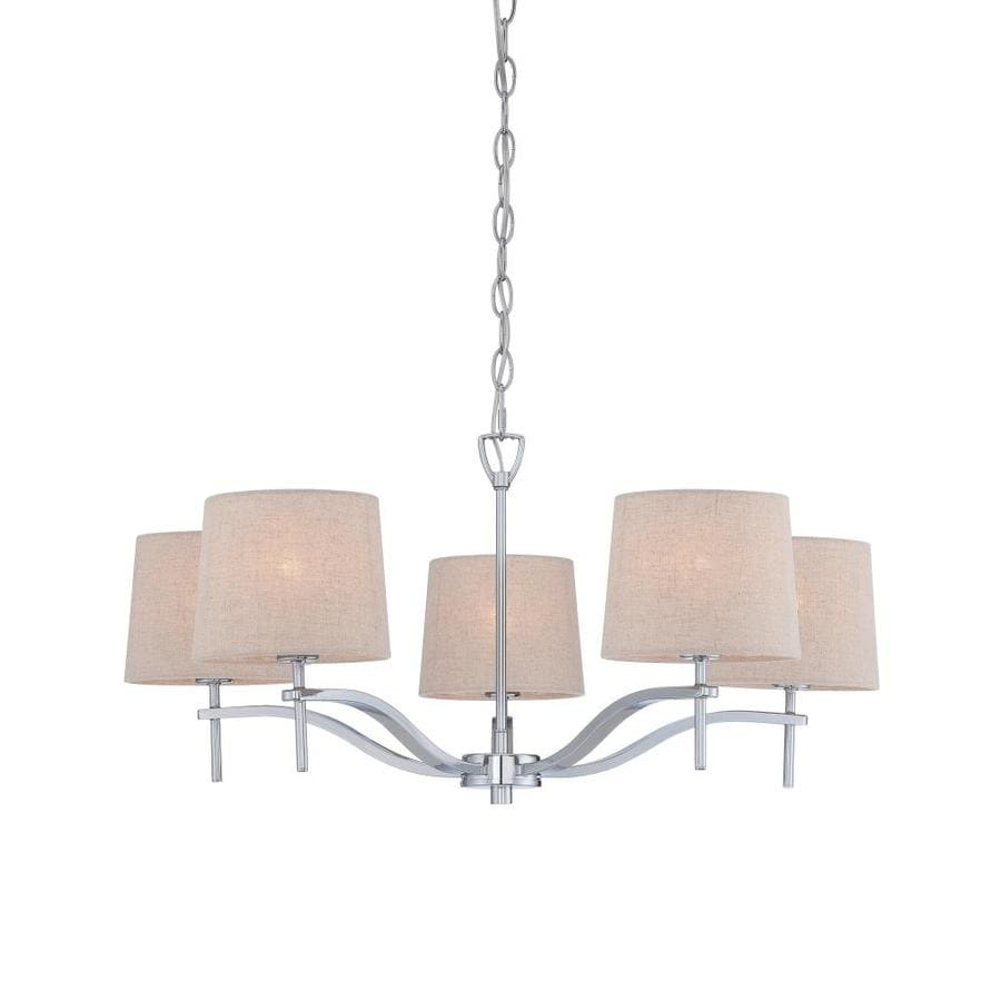 allen + roth 27.62-in 5-Light Chrome Coastal Tiered Chandelier