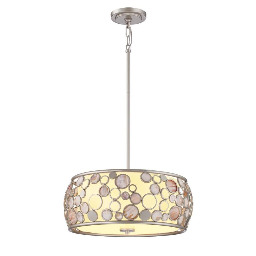 drum lighting lowes. quoizel fairgate 18-in silver coastal multi-light drum pendant lighting lowes i