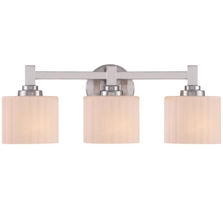 lowes bathroom lighting brushed nickel shop ardeth 3 light 22 in brushed nickel vanity light at 23715