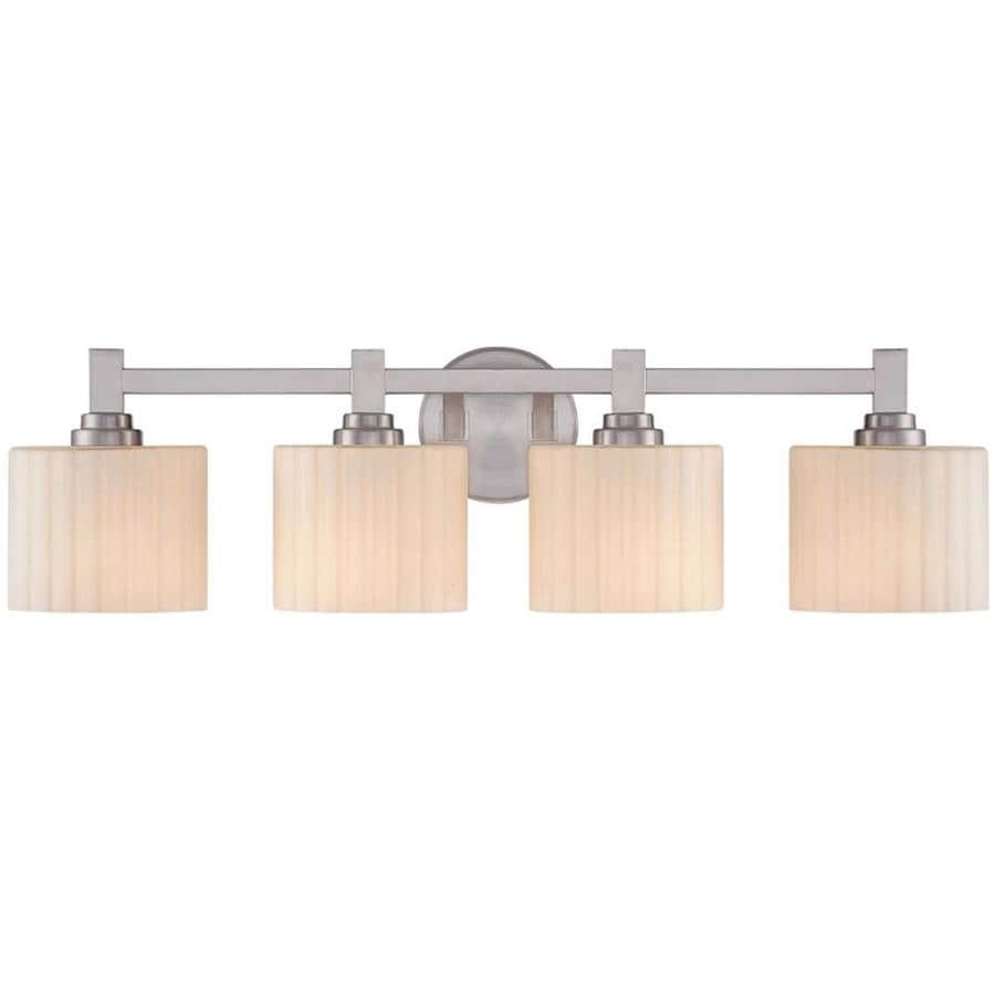 lowes bathroom lighting brushed nickel shop ardeth 4 light 8 in brushed nickel vanity light at 23715