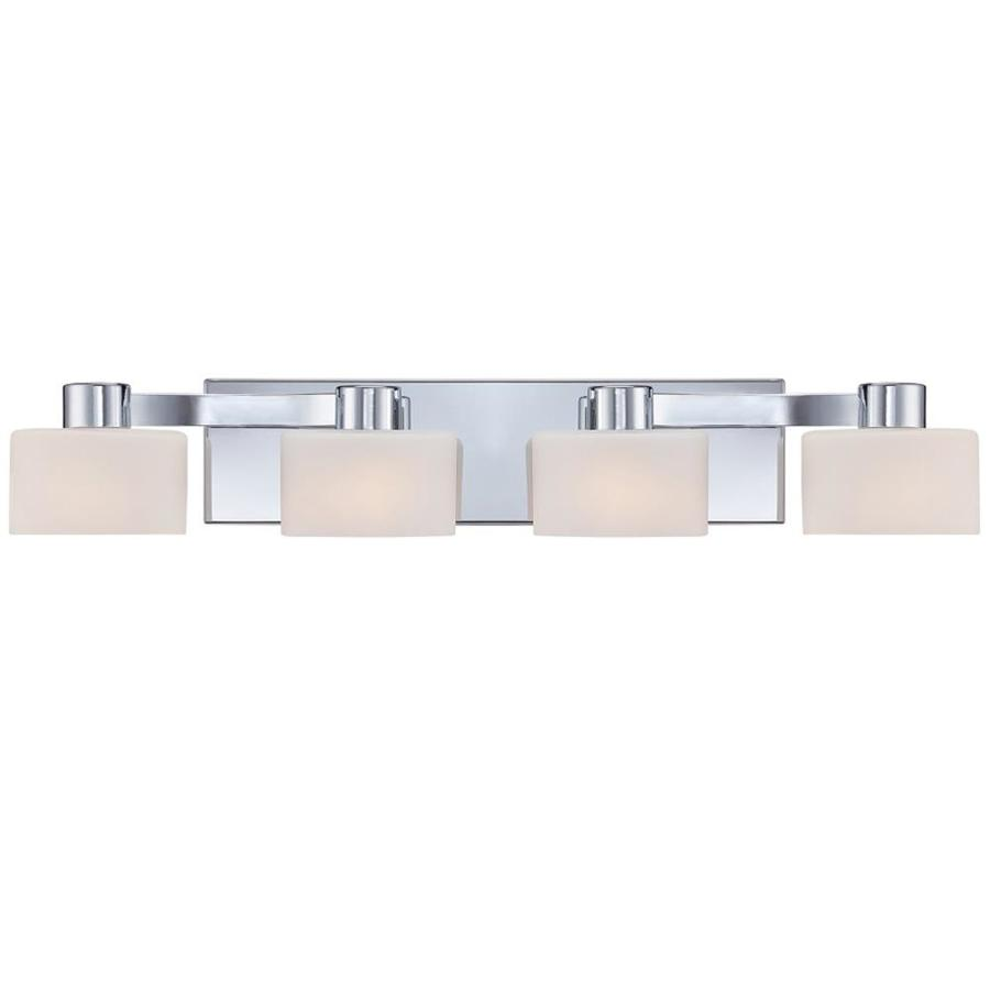 Lannister 4-Light 8-in Polished Chrome Vanity Light