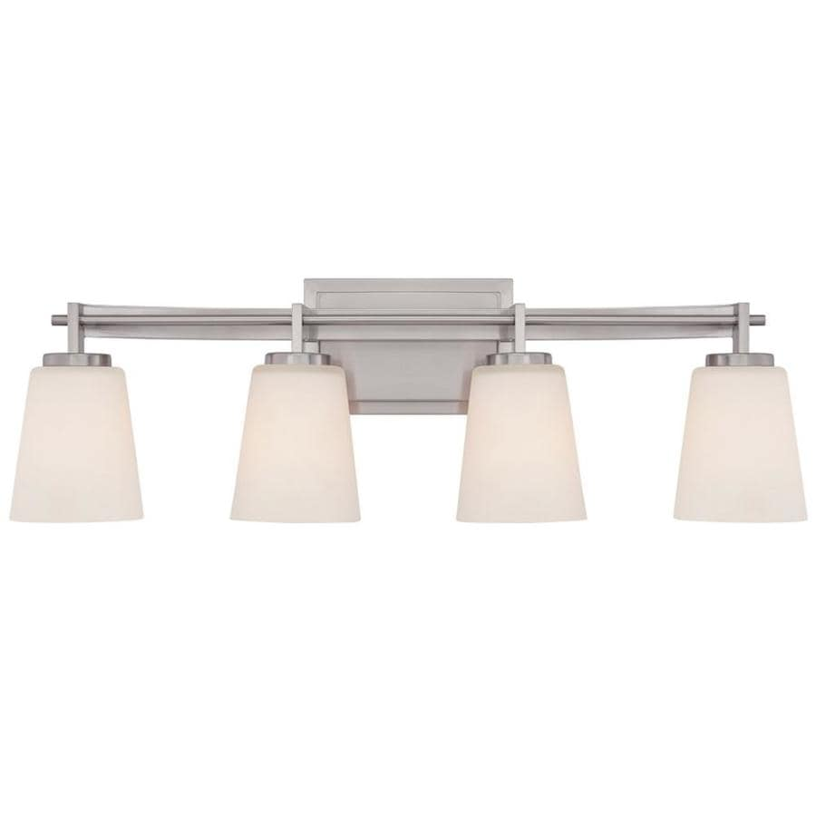Unto 4-Light 9-in Brushed Nickel Vanity Light