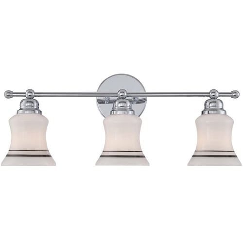 Acura 3-Light 31-in Polished Chrome Vanity Light At Lowes.com
