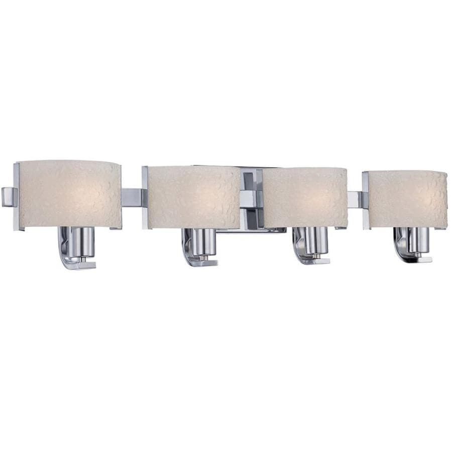 Salvon 4-Light 9-in Polished Chrome Vanity Light