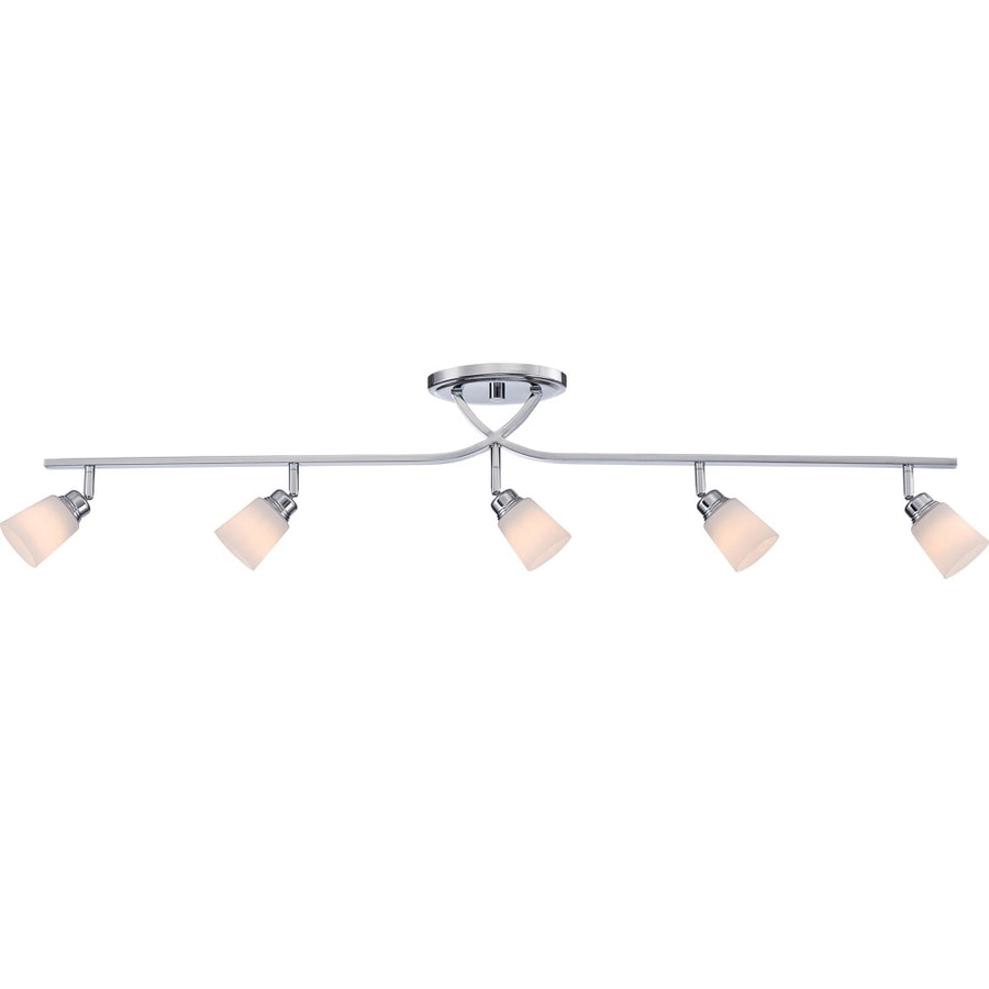 Unto 5-Light 44.5-in Polished Chrome Fixed Track Light Kit