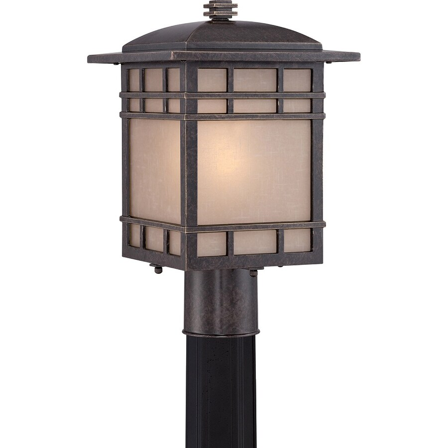 Baratheon 14.6-in H Imperial Bronze Post Light