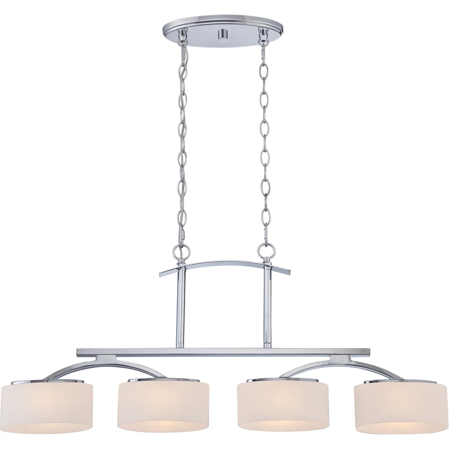 Illumina Direct Madelyn 4.5-in W 4-Light Polished Chrome Kitchen Island Light with Frosted Shade