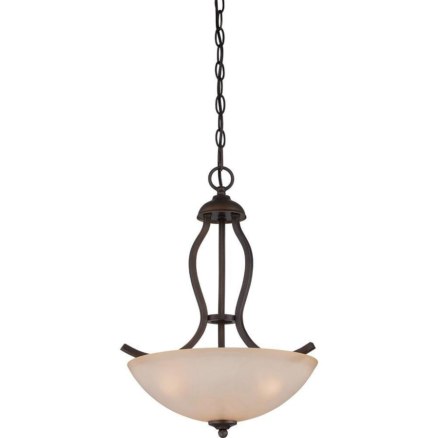 Isolde 15-in Bronze Single Tinted Glass Pendant