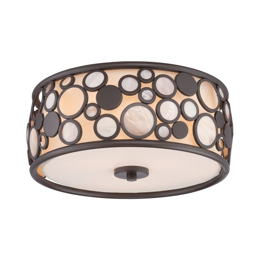 Quoizel Fairgate 14-in W Bronze Flush Mount Light