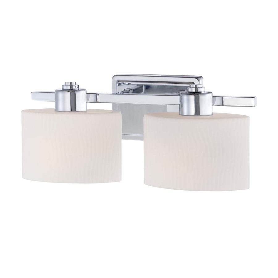 Shop Allen Roth 2 Light Polished Chrome Vanity Light At