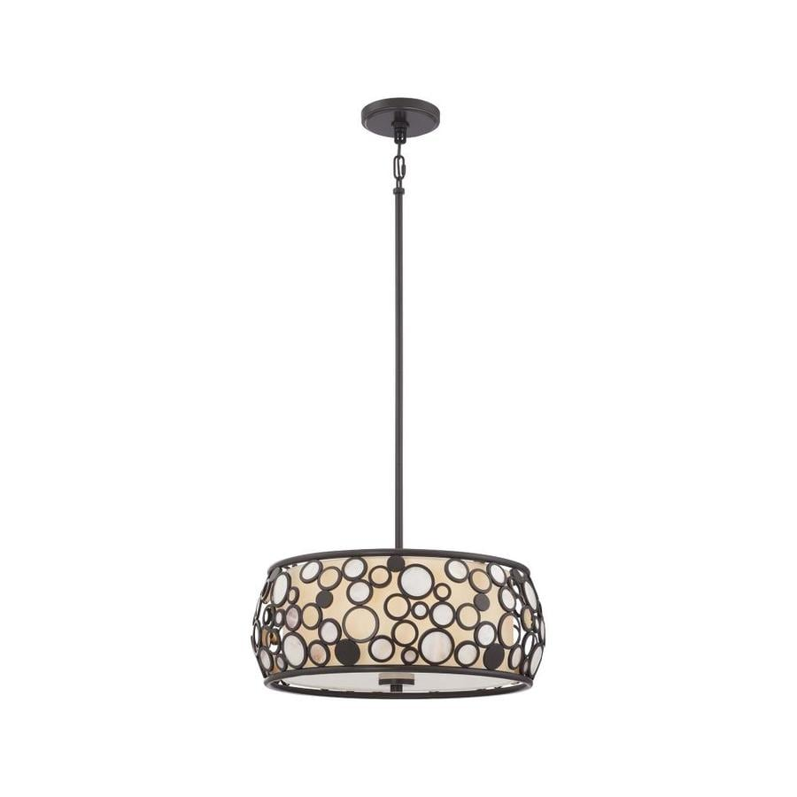 Quoizel Fairgate 18-in Bronze Coastal Multi-Light Drum Pendant