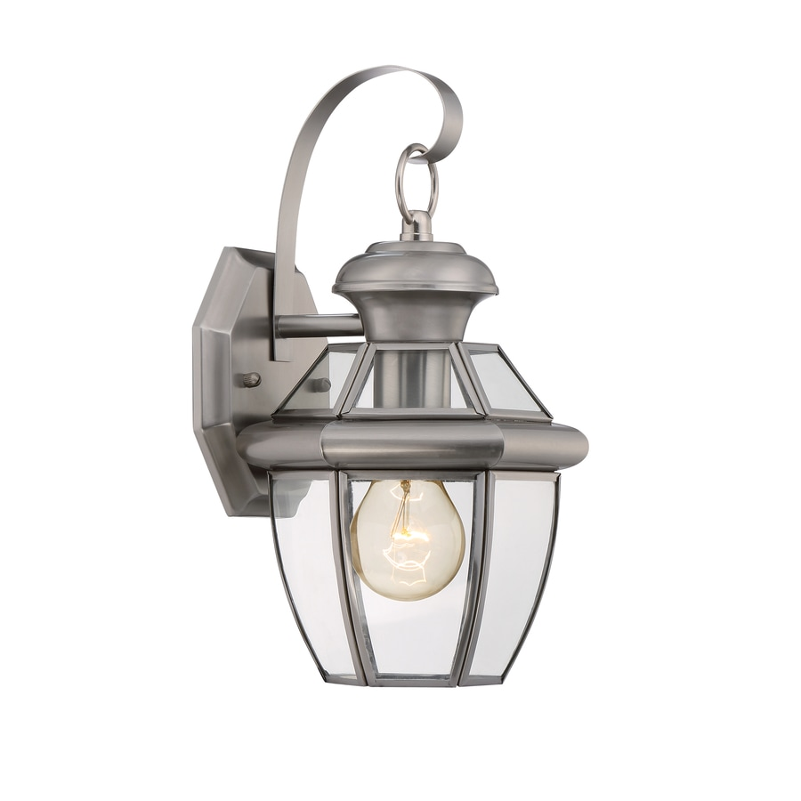 Portfolio Brayden 12-in H Pewter Outdoor Wall Light