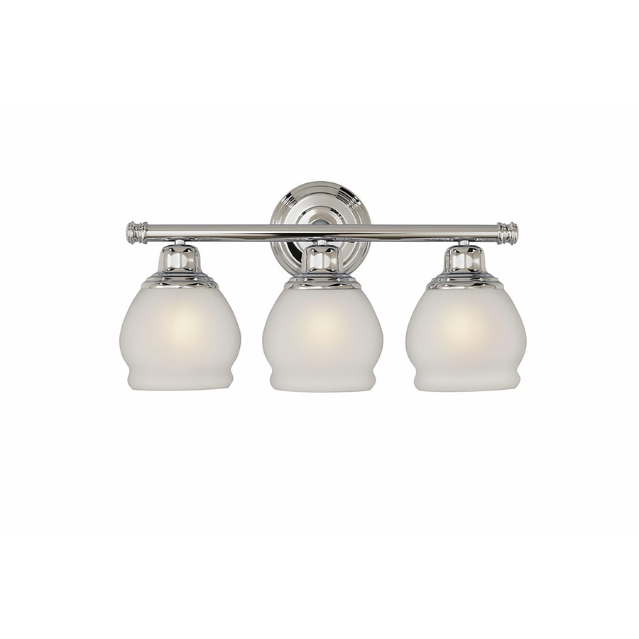 Bathroom Vanity Lights On Ebay shop portfolio 3-light 10.2-in polished chrome bowl vanity light