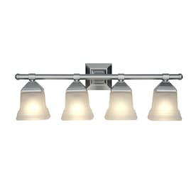 Portfolio 4-Light Nickel Modern/Contemporary Vanity Light