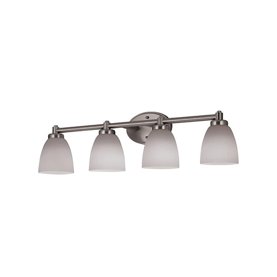 4 Light Brushed Nickel Vanity Lights : Shop Portfolio 4-Light 8.26-in Brushed Nickel Vanity Light at Lowes.com