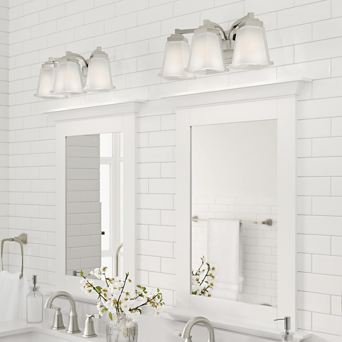 allen + roth Elloree 3-Light Nickel Transitional Vanity ...