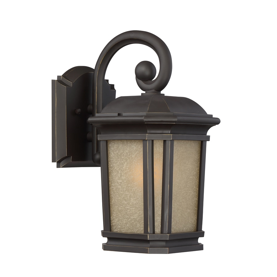 Exterior Wall Lights Lowes : Shop Quoizel Corrigan 13.25-in H Bronze Outdoor Wall Light at Lowes.com