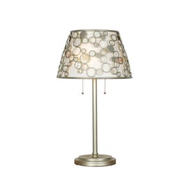 quoizel fairgate 2775in silver table lamp with fabric shade