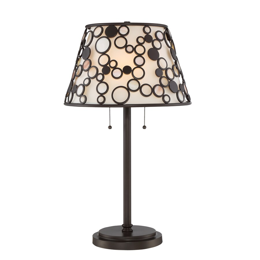 Quoizel Fairgate 27.75 In Bronze Table Lamp With Fabric Shade