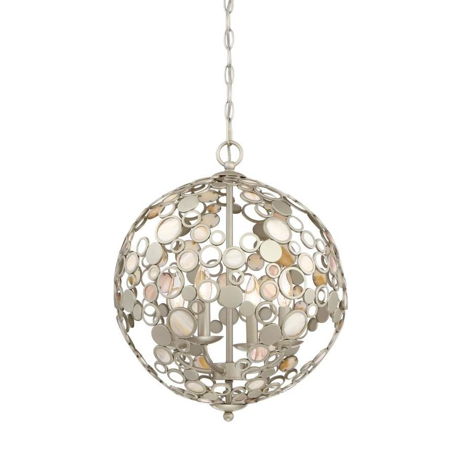Quoizel Fairgate Silver Multi Light Coastal Orb Pendant