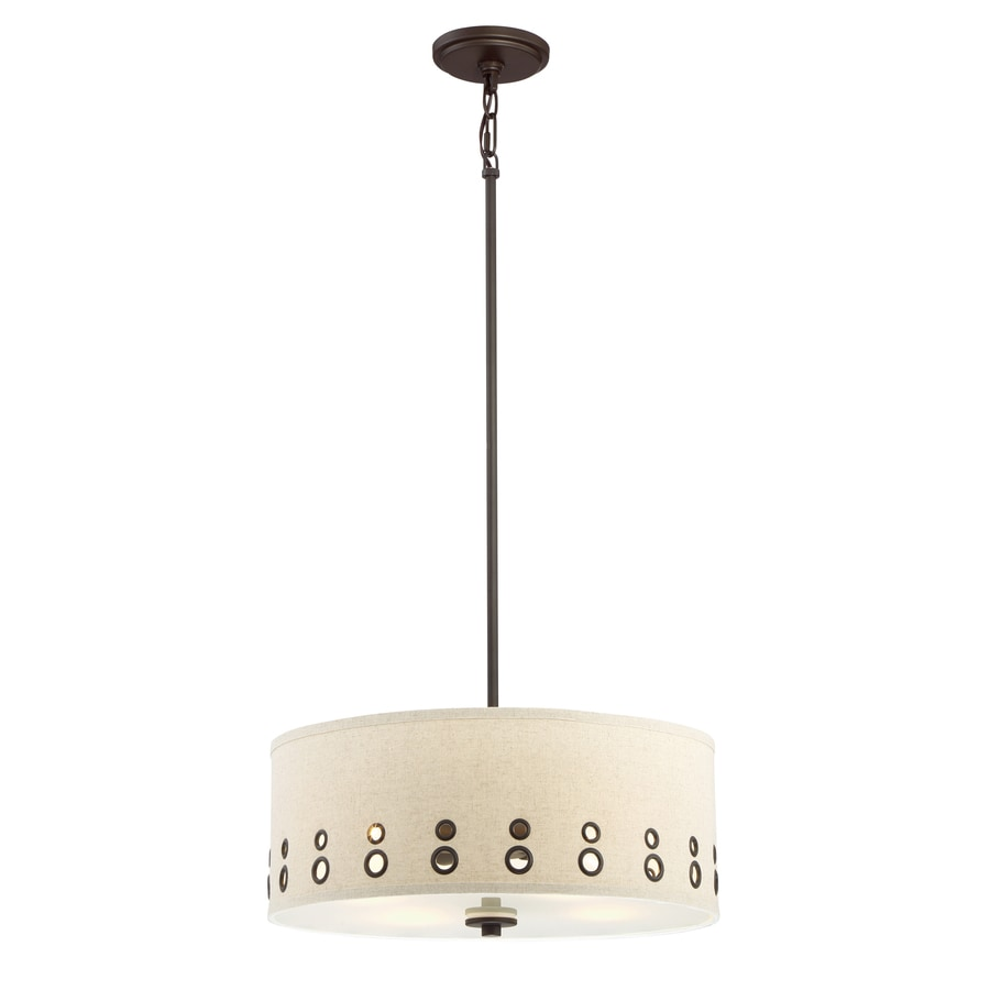 Quoizel Park Avenue 18.13-in Bronze Country Cottage Multi-Light Drum Pendant