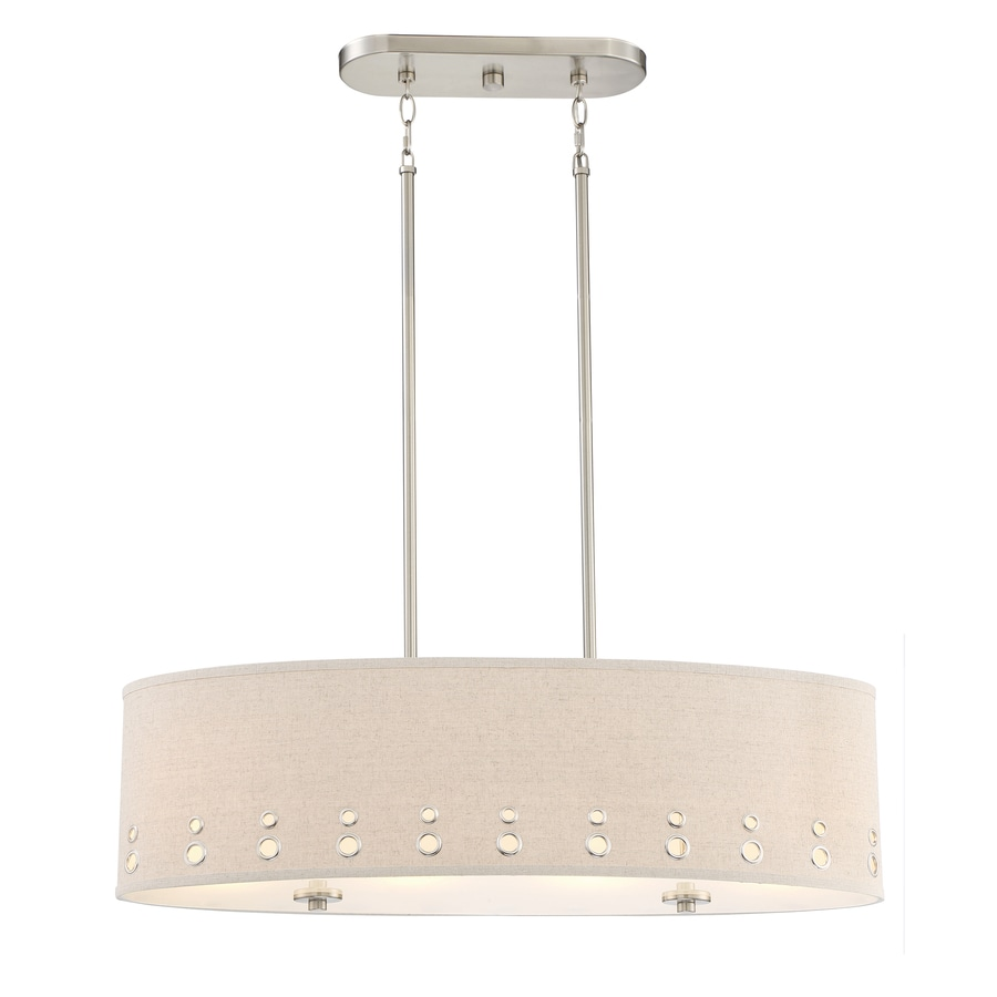quoizel park avenue 32875in w 4light brushed nickel kitchen island light with