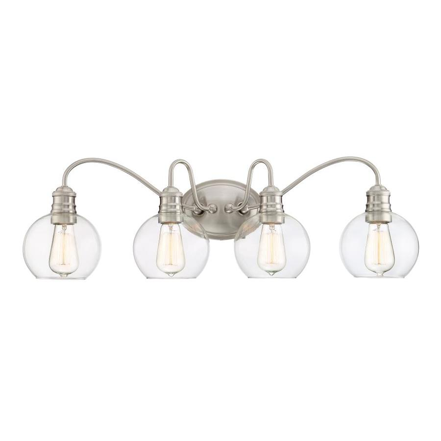 Shop Quoizel Soho 4-Light 9.5-in Brushed Nickel Globe Vanity Light at Lowes.com