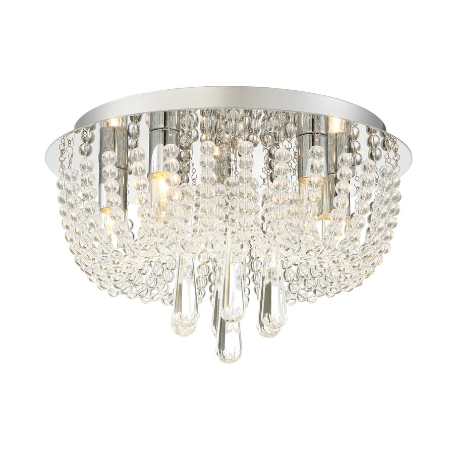 Quoizel Chateau 13.8-in W Polished Chrome Ceiling Flush Mount Light