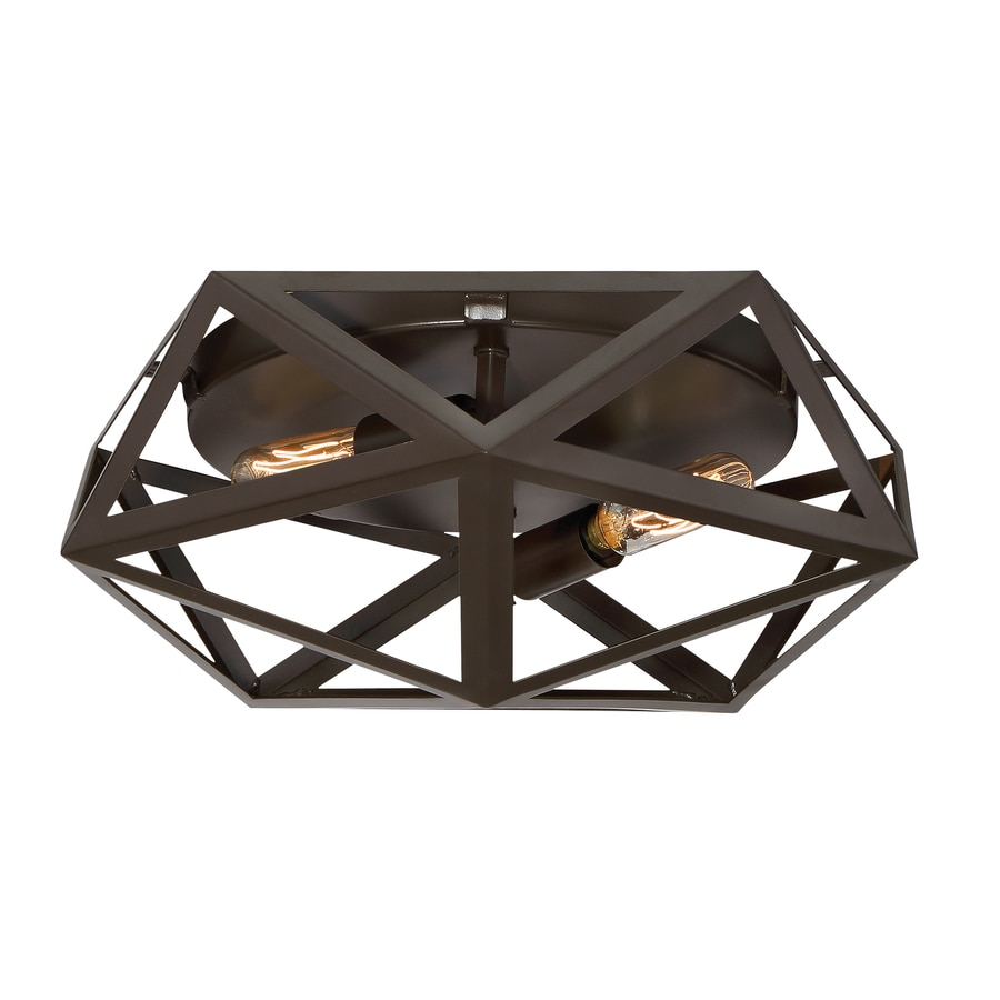 Quoizel Liberty Park 13-in W Bronze Flush Mount Light