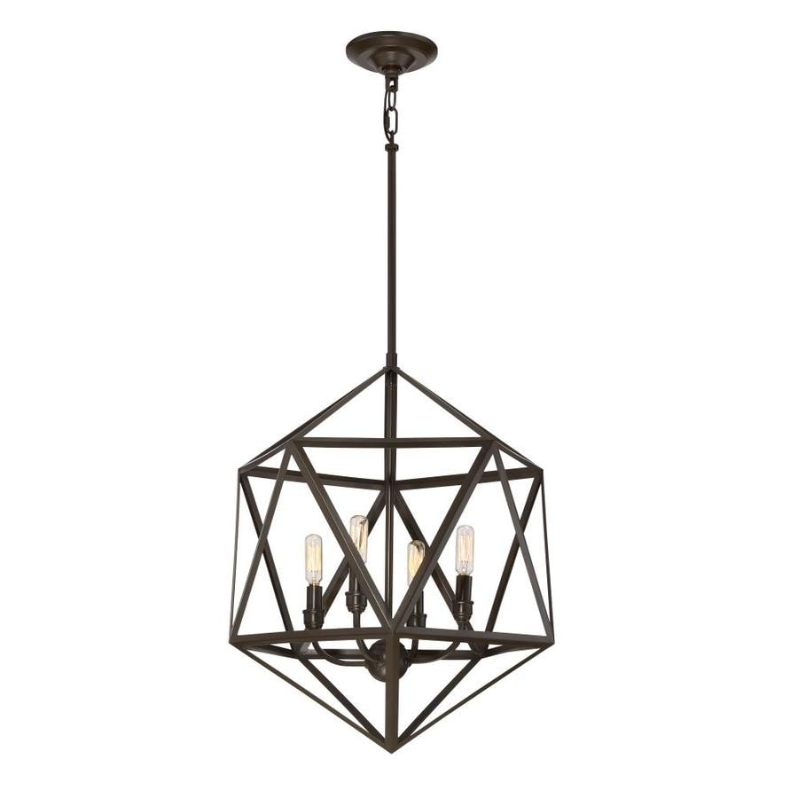 pd shop industrial quoizel bronze geometric liberty park in multi light pendant