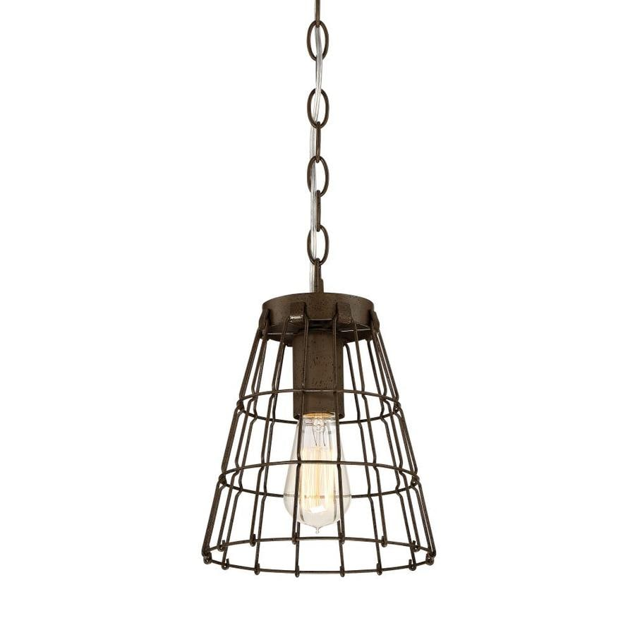 Quoizel Greenwich 8-in Powder Coat Bronze Country Cottage Mini Cage Pendant