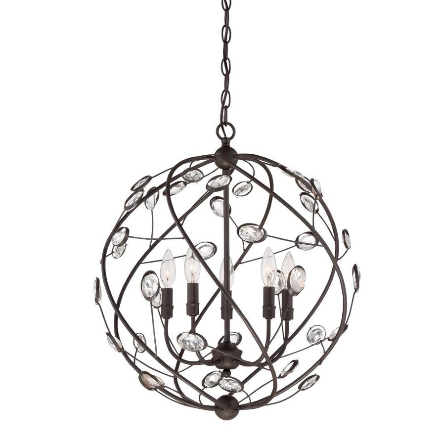 Quoizel Sedona 20-in Bronze Multi-Light Orb Pendant