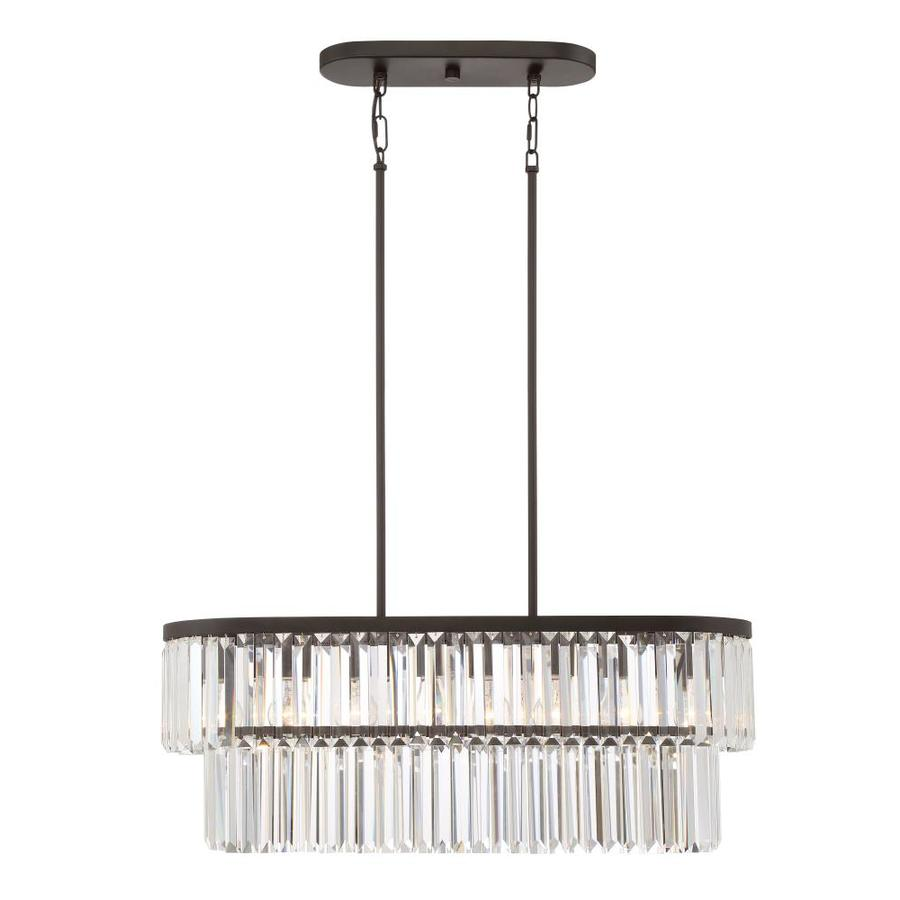 quoizel valentina 30 in w 4 light painted bronze kitchen island light. Black Bedroom Furniture Sets. Home Design Ideas