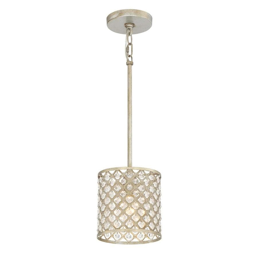 Quoizel Juliana 7-in Gold Crystal Hardwired Mini Cage Standard Pendant
