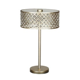 Quoizel Juliana 24.375 In Gold Table Lamp With Metal Shade